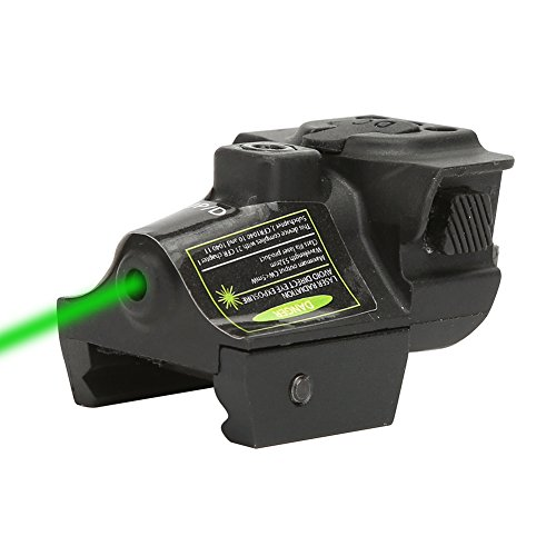 QR-Laser TM XYH01G Tactical Compact Green Dot Green Laser Sight with 20mm Rail Picatinny On/Off Switch for Air Pistol,Airgun,Modem Semi-automatic Pistols,Handgun,Shotguns,Rifle etc ()