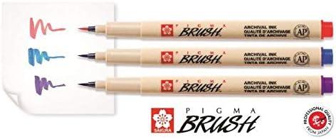 Sakura Pigma BRUSH farbig Pinselstift Pigmentmarker mit Pinselspitze brush pen Braun