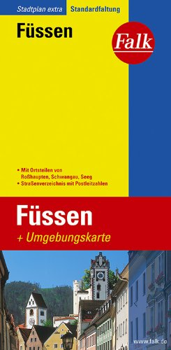 Falk Stadtplan Extra Standardfaltung Füssen