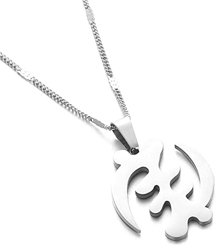 Stainless Steel Trendy Symbol Pendant Necklaces Adinkra Gye Nyame Ethnic Chain Jewelry | Amazon.com