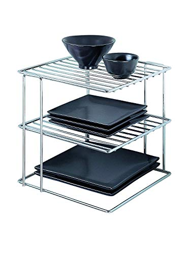 Organize It All Chrome Kitchen Corner Shelf Organizer (1-Unit)