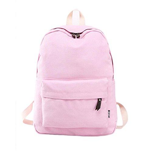 AIMTOPPY Women Canvas School Bag Girl Backpack Travel Rucksack Shoulder Bag - Toddlers Chanel For