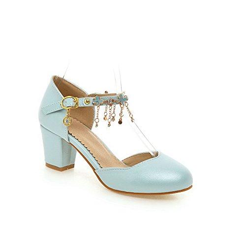 con flecos marcas y DIU00949 para de Sandalias azul con mujer sin flecos uretano zOv6qa