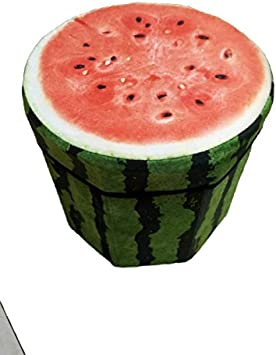 Missley 3D Frutta Pieghevole stoccaggio ottomano cubo Sgabello poggiapiedi Pieghevole Storage Box Kiwi