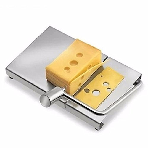 Eco-friendly Stainless steel Cheese Slicer Butter Cutting Board Butter Cutter Knife Board Kitchen Kitchen Tools by gogil