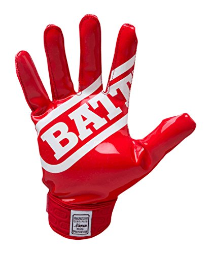 Battle Double Threat Football Gloves - Ultra-Tack Sticky Palm Receivers Gloves -  Pro-Style Receiver Gloves, Youth