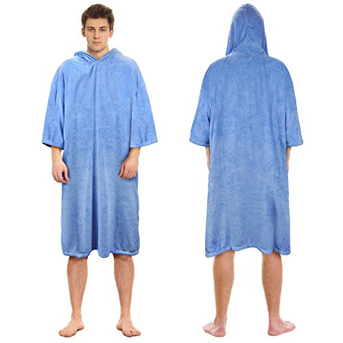 hanging Poncho, Absorbent Beach Towel Wearable Robe for Women Men Swimming Surfing Paddling Bathing ()