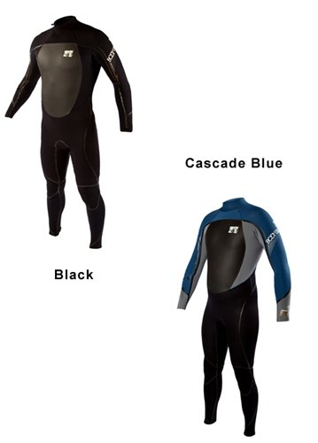 Body Glove Men's 3/2mm Fusion Back Zip Full Body Wetsuit, X-Large