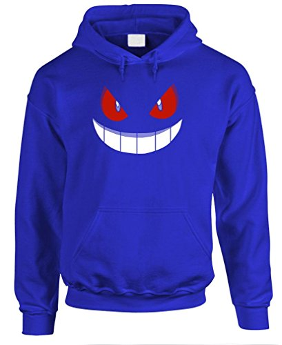 GENGAR HALLOWEEN FACE - costume funny Pullover Hoodie, XL, Royal ()