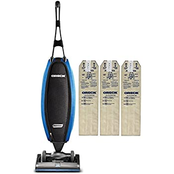 Oreck Upright Vacuum Cleaner LW100 Magnesium SP with 3 HEPA Bags   Carpets, Tile and Hardwood Flooring   Dirt, Debris, Pet Hair   Lightweight, High-Suction Clean