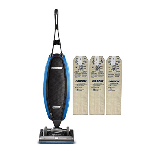 Oreck Upright Vacuum Cleaner LW100 Magnesium SP with 3 HEPA Bags | Carpets, Tile and Hardwood Flooring | Dirt, Debris, Pet Hair | Lightweight, High-Suction Clean
