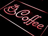 ADVPRO Coffee Cup Shop Cappuccino Cafe LED Neon Sign Red 16'' x 12'' st4s43-i433-r