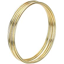 eBoot 5 Pack Gold Metal Rings Hoops Macrame Rings for Dream Catcher and Crafts (4 Inch)