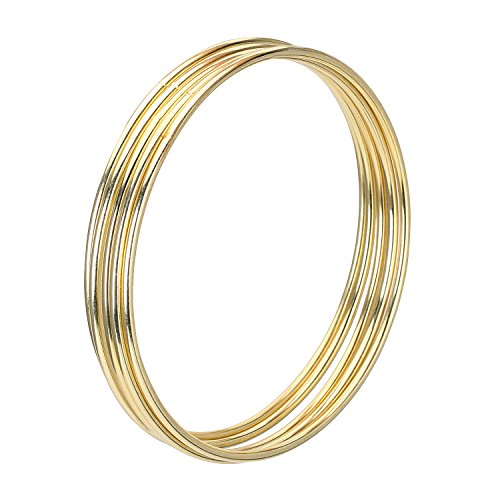 Metal Rings Hoops Macrame Rings for Dream Catcher and Crafts (5 Pieces Gold, 4 Inch)