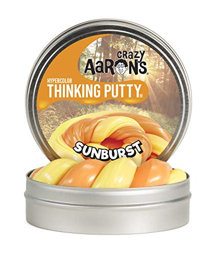 Sunburst Science - Crazy Aaron's Thinking Putty, 3.2 Ounce, Hypercolor Sunburst