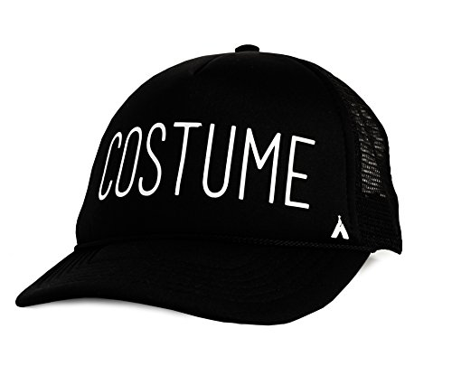 Boo In Costume (Kind Tribe Co. Women's COSTUME Trucker Hat with GLOW-IN-THE-DARK printing!! One Size Adjustable Black)