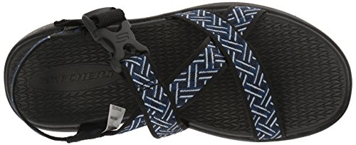 Sandal Skechers Mens M 9 Black US Adjustable Outdoor Sport Fisherman Navy qBpHBwWX