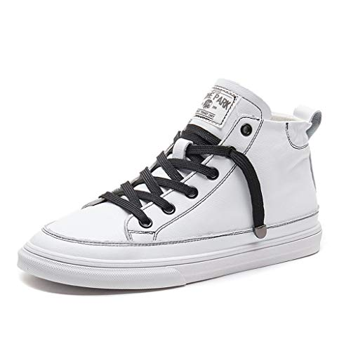 Cuero Para Tamaño Zapatos Plana Arriba Blanco color Pu 37 Deporte Atan Los Las De Mujer Manera Shi Altos Zapatillas La Mujeres Blanco BqtxP