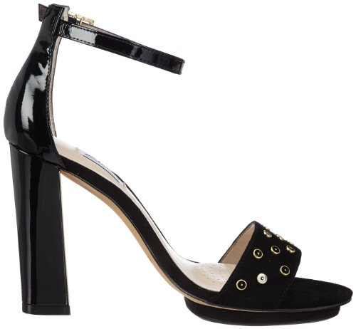 Clarks Spiced Curtain 203572264 - Zapatos de tacón de cuero para mujer Blanco (Weiß (Black Sde))