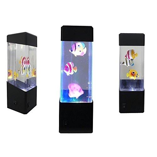 Yosoo jellyfish water ball tropical fish aquarium tank led for Tap tap fish light jellyfish