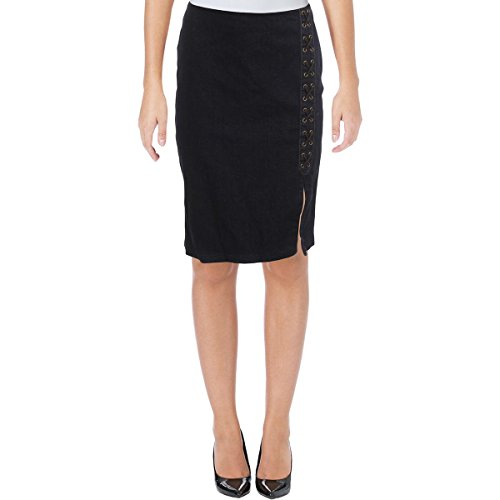 LAUREN RALPH LAUREN Womens Petites Denim Knee-Length Pencil Skirt Navy 2P