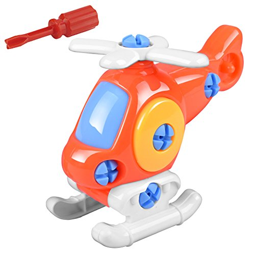 Bluelans Take Apart Toy, Disassembly Assembly Airplane Train Kart Kids Early Learning Toys Educational Toys for Kids Boys Girls Xmas Gifts Xmas Stocking Fillers Party Bag -