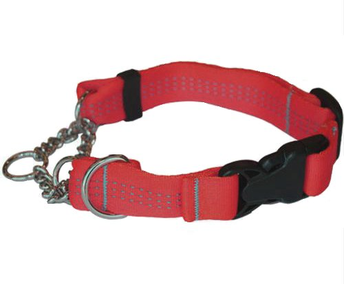 Canine Equipment Technika 1-Inch Quick Release Martingale Dog Collar, Medium, Red