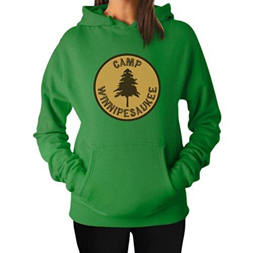 TeeStars Women's - Camp Winnipesaukee Hoodie XX-Large Green