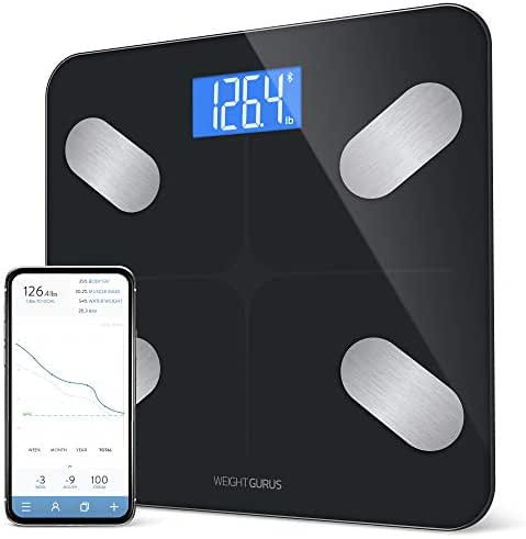 GreaterGoods Bluetooth Digital Body Fat Scale, Smart Body Composition Monitor, Secure Connected Solution for Your Data