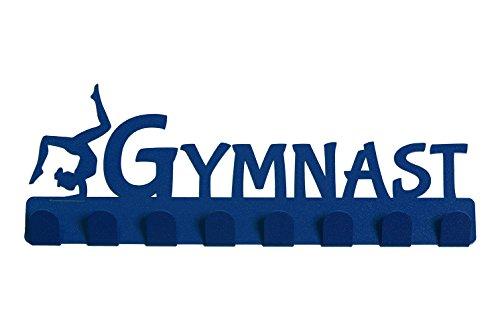 Lizatards 'Gymnast' Medal Rack Hanger - Sparkly Blue