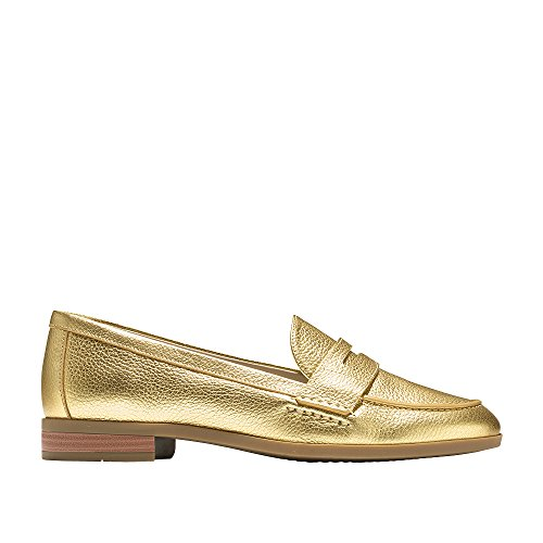 Cole Penny Women's Metallic Haan Flat Pinch Grand Loafer Gold TWTHnqr61