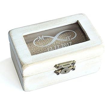 Amazon.com: Wedding Ring Box,Vintage Wodden Ring Bearer