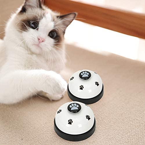 Dog Puppy Pet Potty Training Bells Dog Cat Door Bell Tell Bell with Non-Skid Rubber Base 2 Pack Puppy Doorbells MELARQT Dog Training Bell