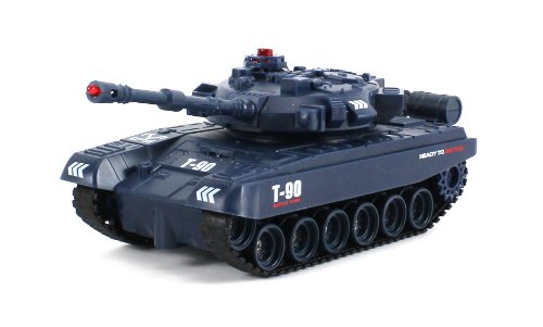 Electric RC Tank Infrared Combat Battle Tri-Band Remote 1:48 Scale Ready To Run RTR ()