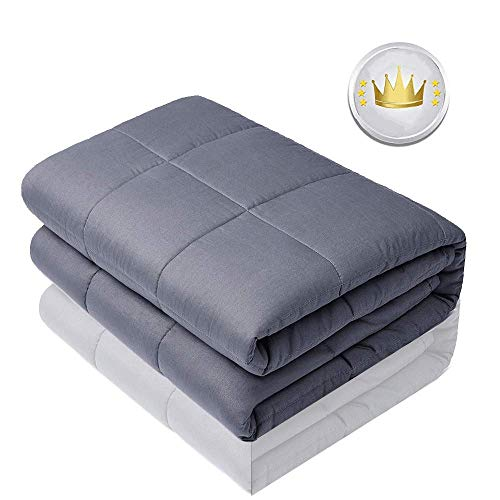 Cheap Yiran Breathable Cotton Blanket with Glass Beads Comfortable Weighted Blanket Washable Heavy Bed Blanket for Adult Woman and Man (20lbs 60 x80 Full Size) Black Friday & Cyber Monday 2019