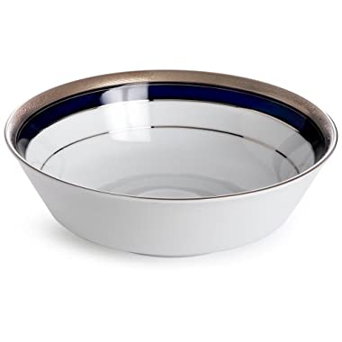 Noritake Crestwood Cobalt Platinum Round Vegetable Bowl