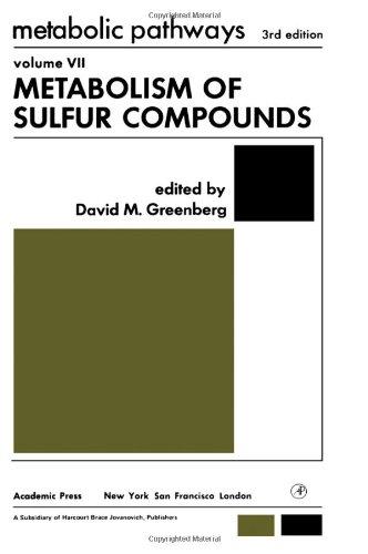 Metabolic Pathways  Metabolism Of Sulfur Compounds V  7