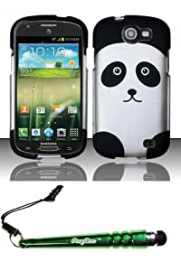 FoxyCase(TM) FREE stylus AND For Samsung Galaxy Express i437 (AT&T) Rubberized Design Case Cover Protector - Panda Bear Desire Safe Phone cas couverture
