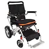 F KD FoldLite Electric Wheelchair Deluxe Stable Power Compact Wheelchair, Foldable & Lightweight, Travel Motorized Wheelchair with Heavy Duty 330lbs Loads, 2010, Silver