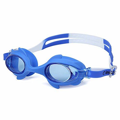 LXKMTYJ Lunettes de natation Lunettes garçons et filles imperméables et antibuée