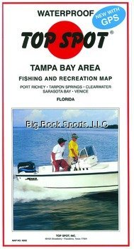 Top Spot Map N202 Tampa Bay Area Fishing and Recreation Map Port Rickey to Venice