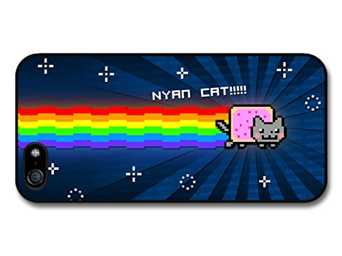 Nyan Cat Rainbow Videogame Illustration Emoji coque pour iPhone 5 5S