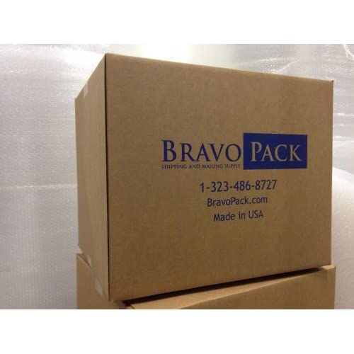 """#000 4x8"""" KRAFT BUBBLE MAILER PADDED ENVELOPES-1000 qty MADE IN USA by BravoPack"""