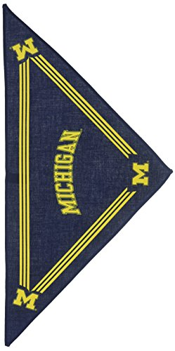 Collegiate Michigan Wolverines Pet Bandana, Small - Dog Bandana must-have for Birthdays, Parties, Sports Games etc.. Michigan Dog Pet Varsity Jacket