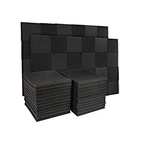 50 Pack Acoustic Panels Soundproof Studio Foa...