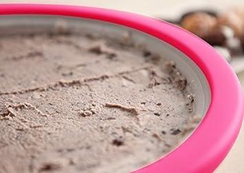 Caracol rollo de Sweet Instant Ice Cream Sandwich Panificadora eléctrica placa de pan bandeja con paja cuchara, espátula, libre forma herramientas regalo ...
