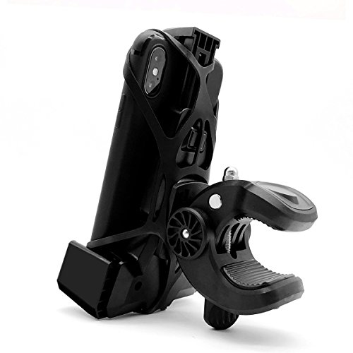 Widras Bike Cell Phone Holder 3rd Generation | Bicycle Mount for iPhone X 8 7 6 5 Plus | Samsung Galaxy S5 S6 S7 S8 S9 Note or Any Smartphone & GPS| Mountain & Road Bicycle Handlebar Cradle