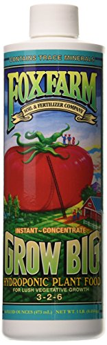 Fox Farm Grow Big Hydro Liquid Concentrate Fertilizer, 1-Pint