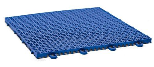 DuraGrid CR12ROYB Cross-Rib Design, Interlocking Modular Self-Draining Multi-Use Safety Floor Matting (12 Pack), Royal Blue by DuraGrid® (Image #1)