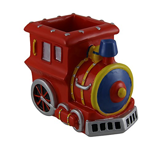 Zeckos Bright Red Train Engine Pencil/Pen Holder